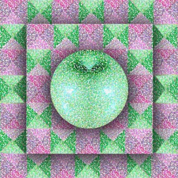 Apple on Triangles, 2004  Digital Painting