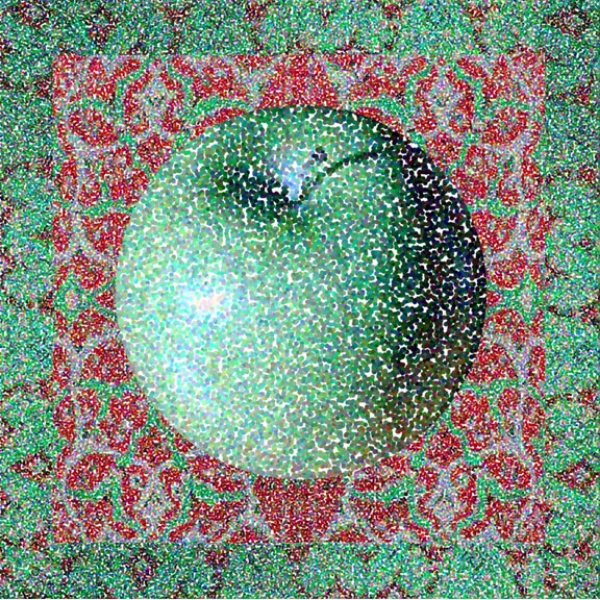 Matisse Apple. 2003  Digital Painting