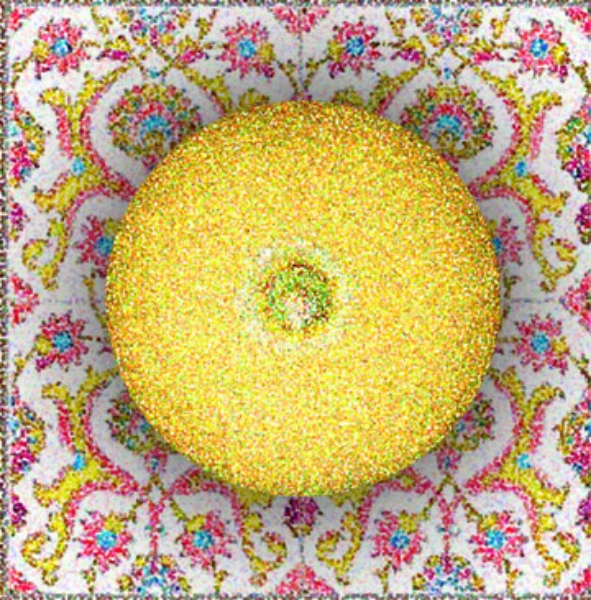 Lemon (Circle) on Tile, 2003  Digital Painting