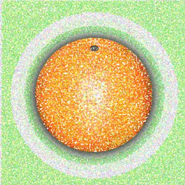 Orange Circle, 2001  Digital Painting