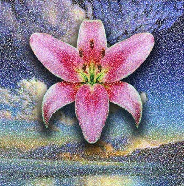 Lily in The Sky, 2004,  Digital Painting