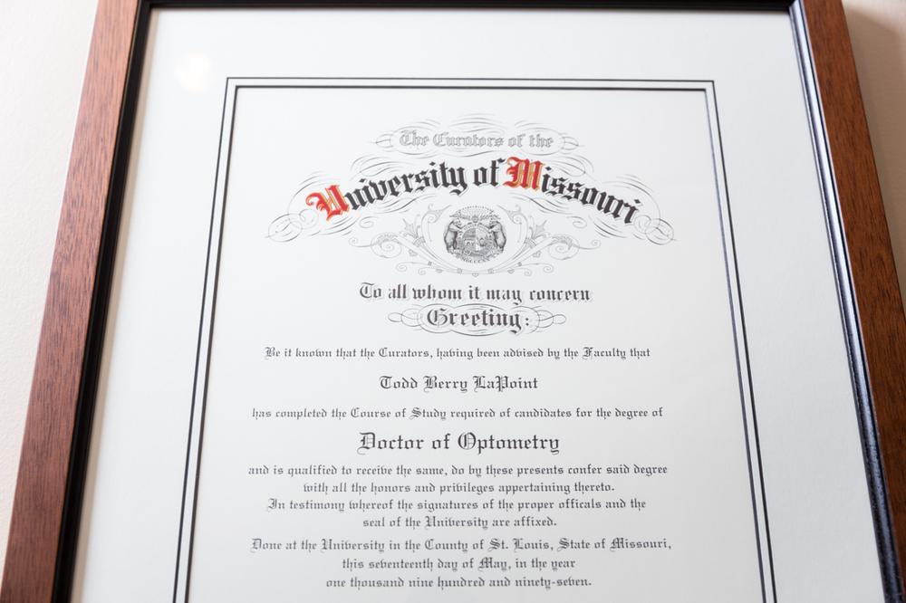 Dr. La Point Diploma