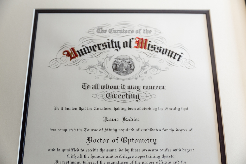 Dr. Kadlec Diploma