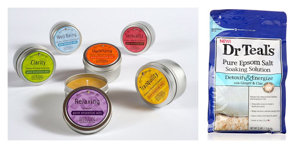 Travel Candles and Bath Salts