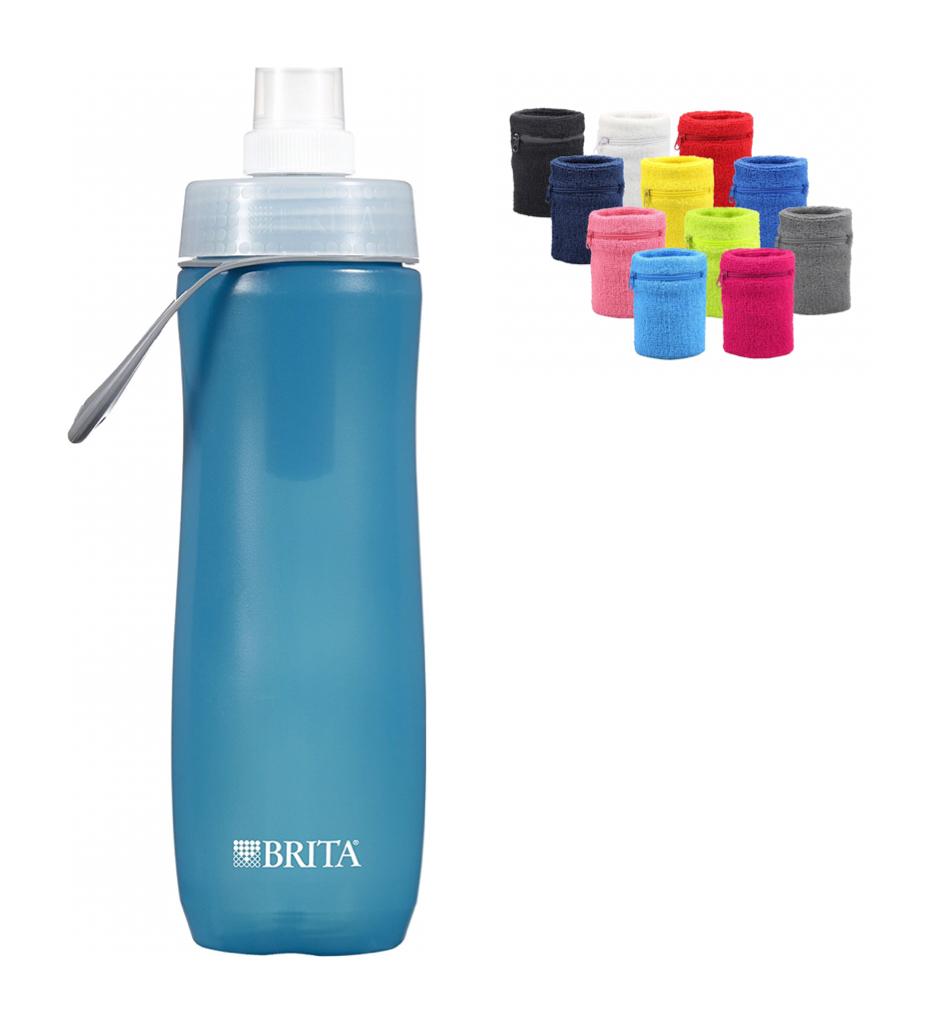 Brita Filter Bottle and Zippered Wristband