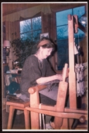 Mary at the loom in her cabin in the north Georgia mountains.