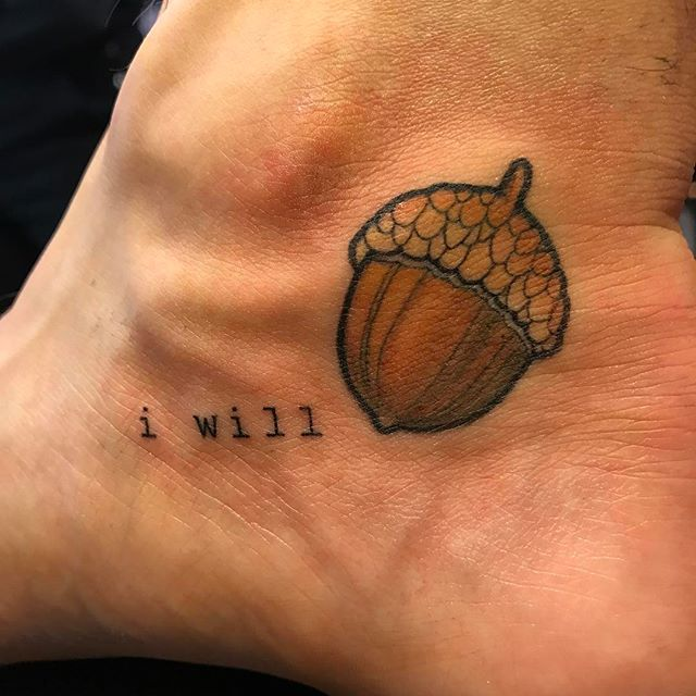 i will , 🐿  acorn on jesus ' (cause hes nuts) #staynuts #acorntattoo