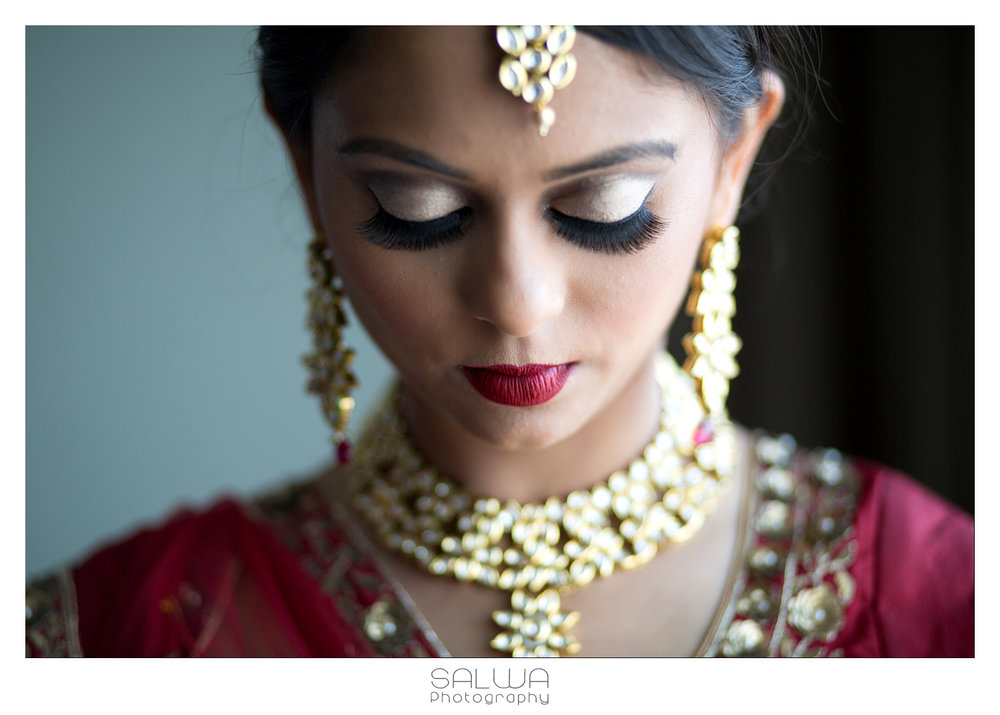 Ushma |Wilmington, DE | September 2016 Sara did a great job throughout my wedding weekend to make me, my sisters and mom look our best. During our trial she did a great job understanding the look I wanted and even created a board with all my looks so the day of there wasn't any time wasted on decision making. She was also extremely timely and had a schedule made so all four of us had enough time for hair and make up. I absolutely loved my wedding and reception hair and make up, I received tons of compliments all day. I would definitely recommend her.