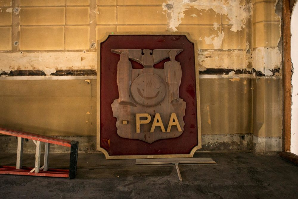 Old PPAA sign.
