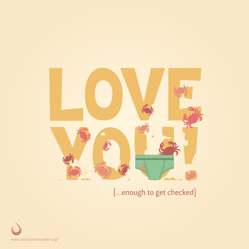 Love You!: STI Prevention Poster, 20x20, 2013