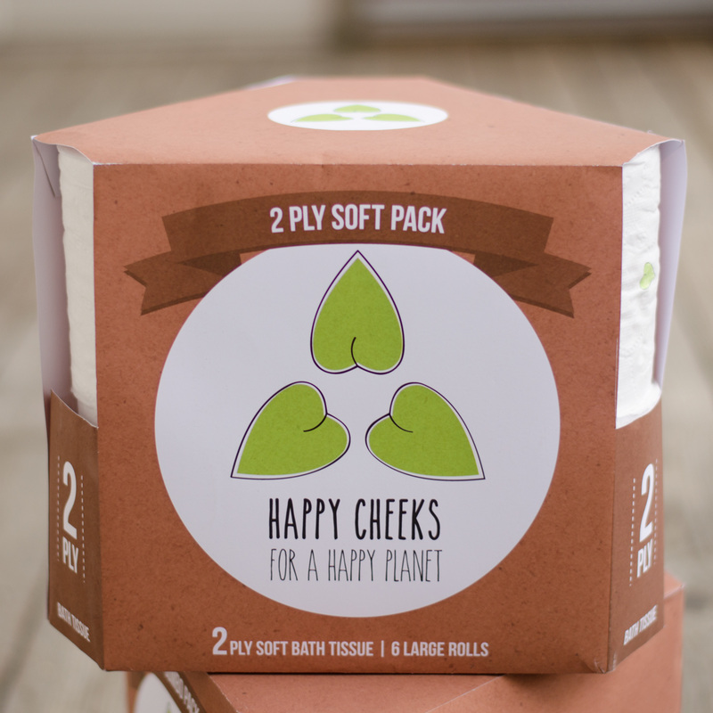 Happy Cheeks, Environmentally conscious toilet paper package design, 2013