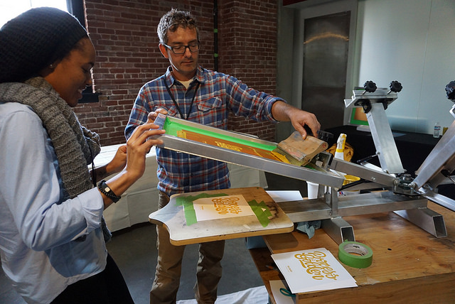 Silkscreening with Mike Orhan