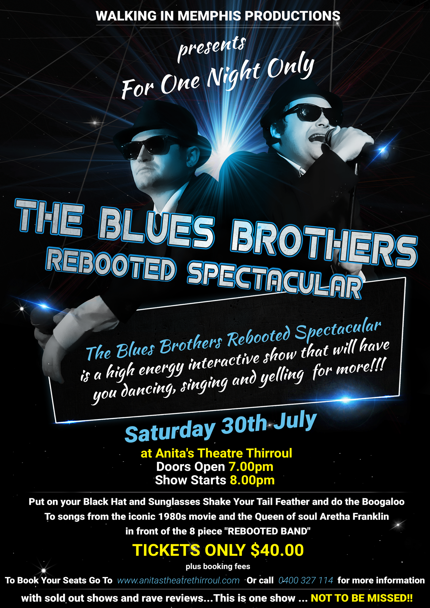 be6175cf1 Anita's Theatre Thirroul — Blues Brothers Rebooted