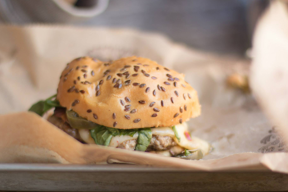 Fire Quacker Burger