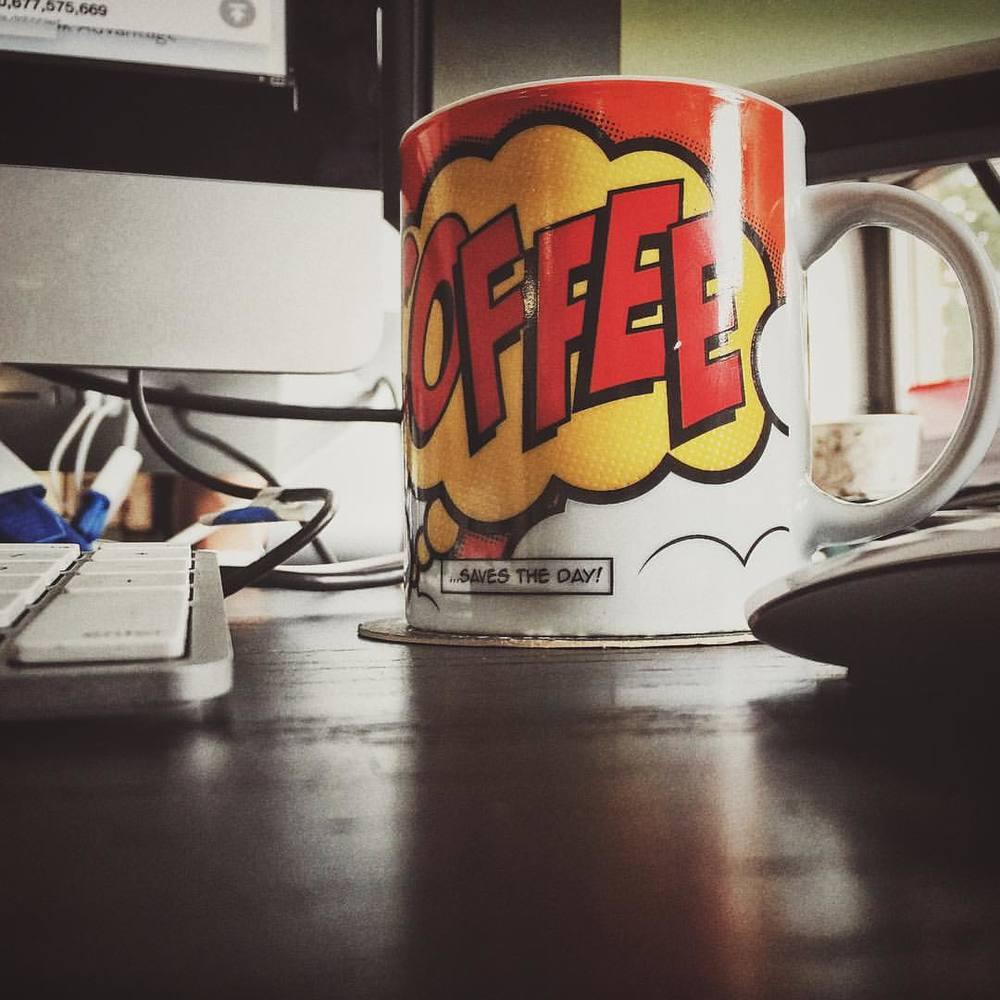 My #daily #routine - #Coffee saves the #day found the perfect #mug - #colors + #comics + #coffee - #art #creative #design #creative_liph #liph