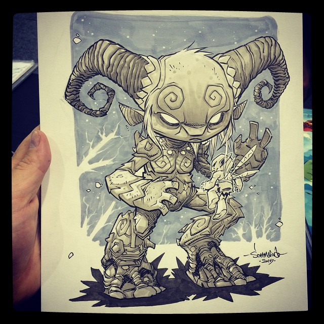 sommariva :     The Faun from Pans Labyrinth! Great sketch request. #panslabyrinth #pan #chibi