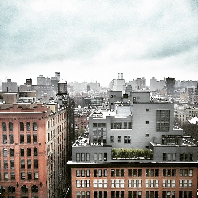 #winter #morning #snow #city #view #nyc