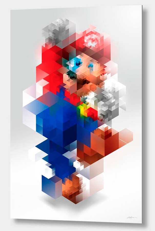 "curioos-arts: ""Super Mario"" - by Nicola Felasquez Felaco - Bring home your favorite Nintendo star on Aluminum Prints: http://cur.im/16vmOze"