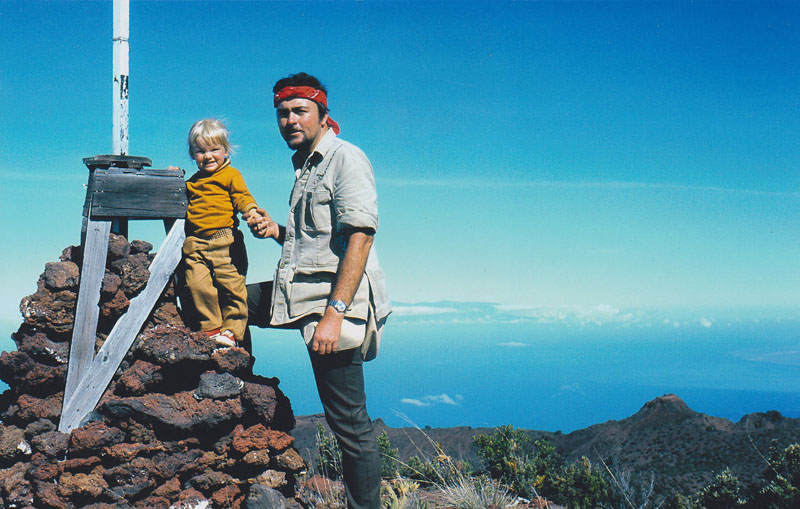 At the top of Hualalae Mountain in Hawaii