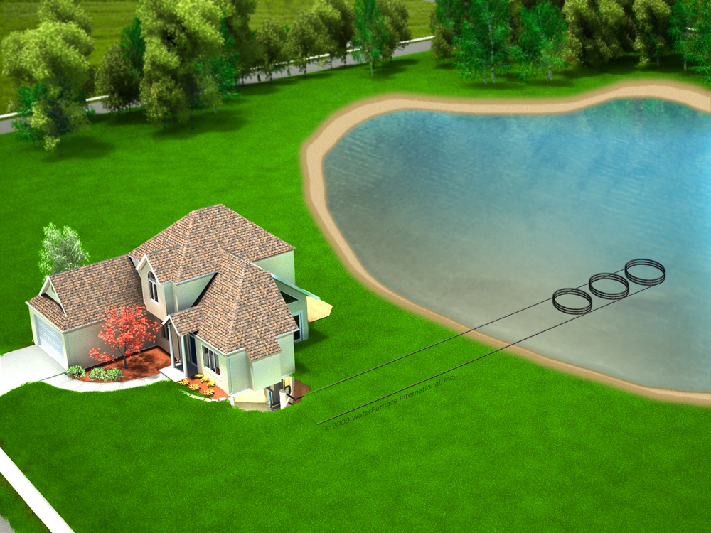 Geothermal Pond Loops