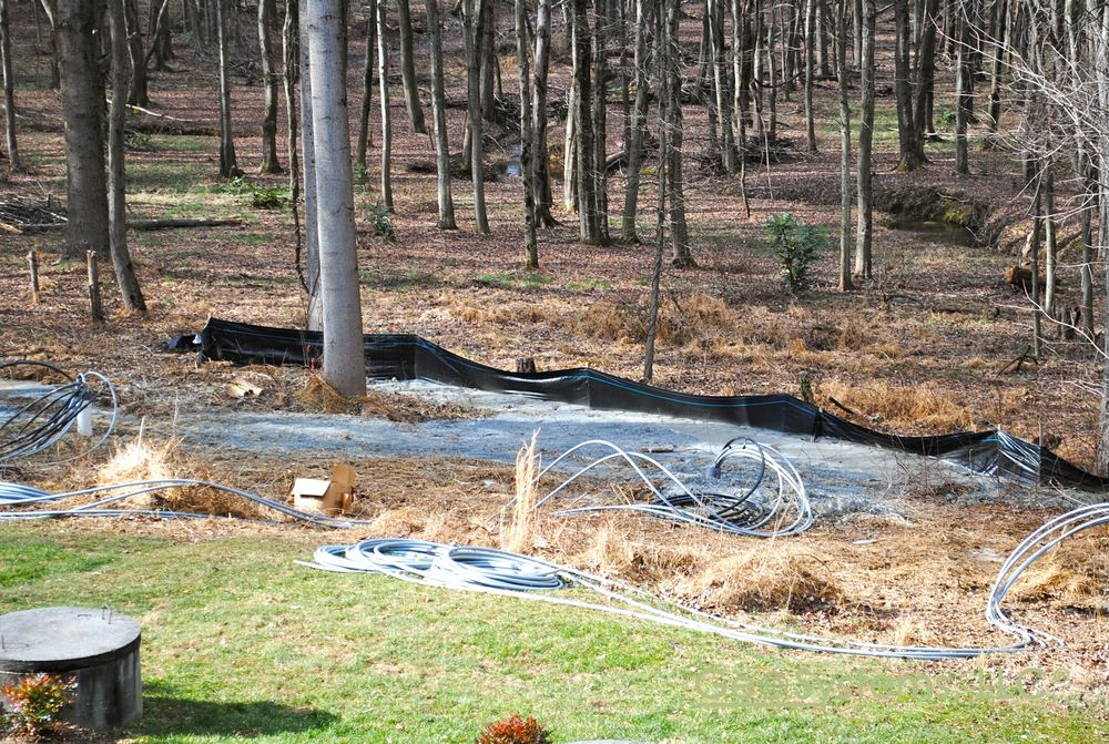 Geothermal Loops are installed