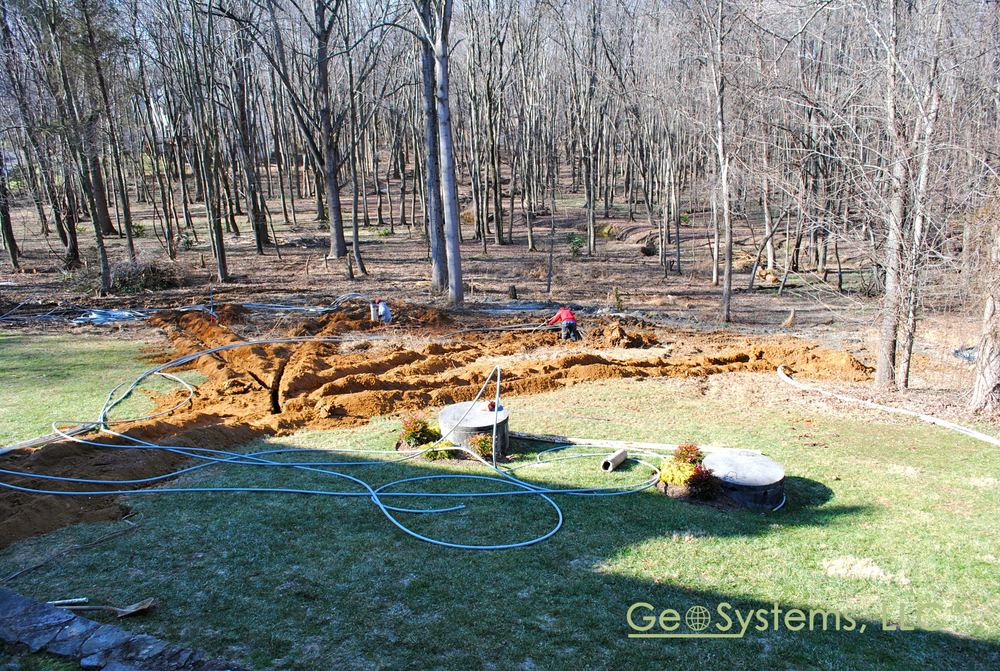 Geothermal Loops Are Routed To The House