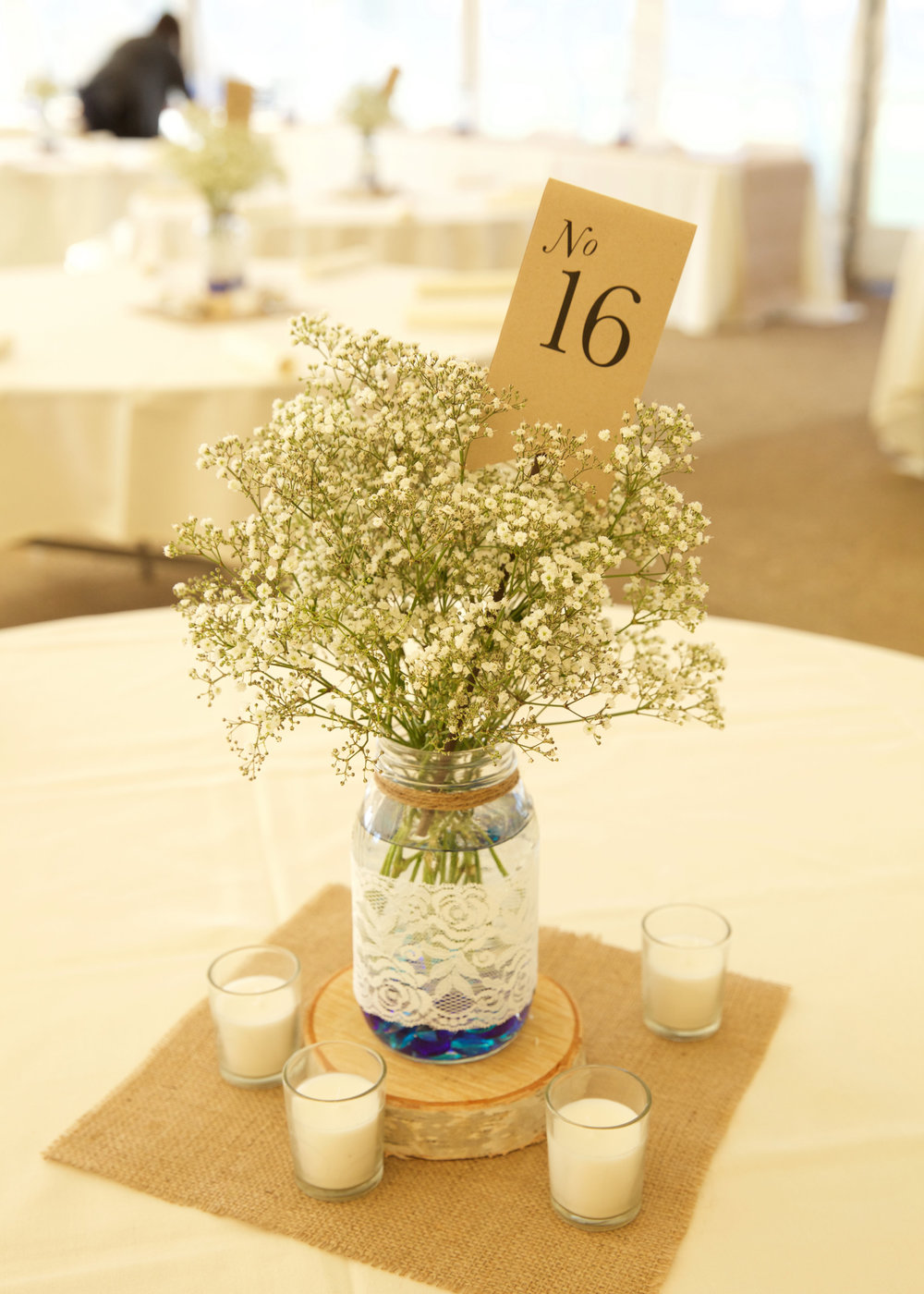 jackie and kevin centerpiece