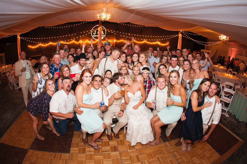 These folks held the dance floor down and danced the night away, you can tell from this group shot by  Bill Payne Photography  that  The Chico Wedding DJ  rocked the house and everyone had a great time!