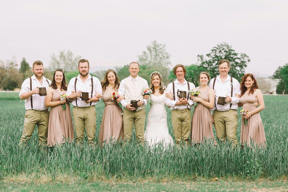 Such a fun tribe at Cate & Chris's wedding, captured by  Julia Lukash Photography
