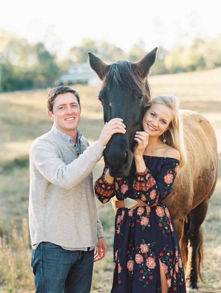 engagement session horses atlanta ga film photographer