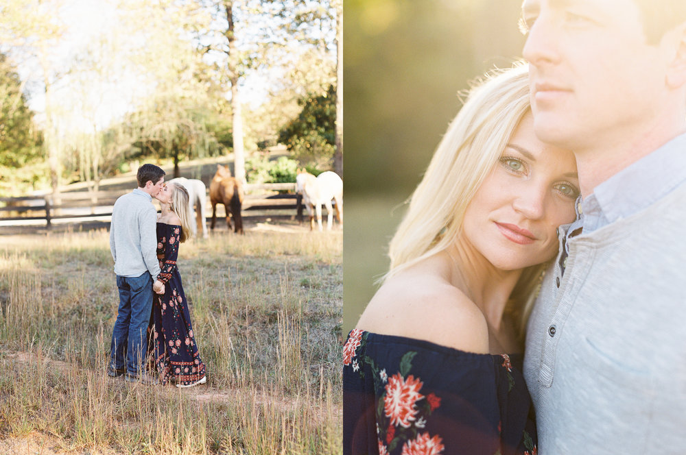engagement session horses atlanta ga photographer film