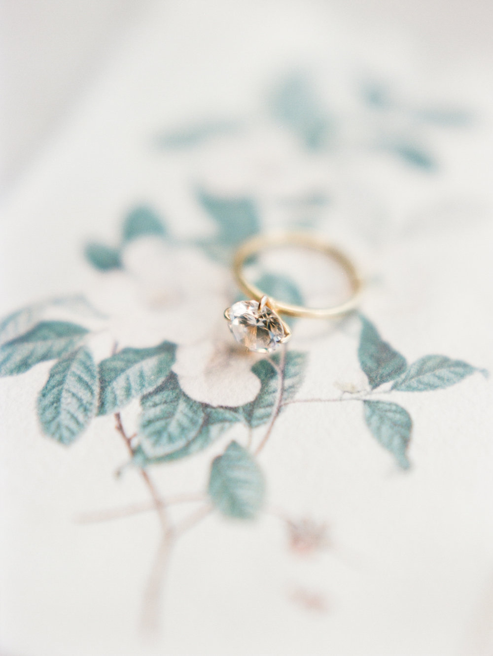 Savannah wedding solitaire ring gold film