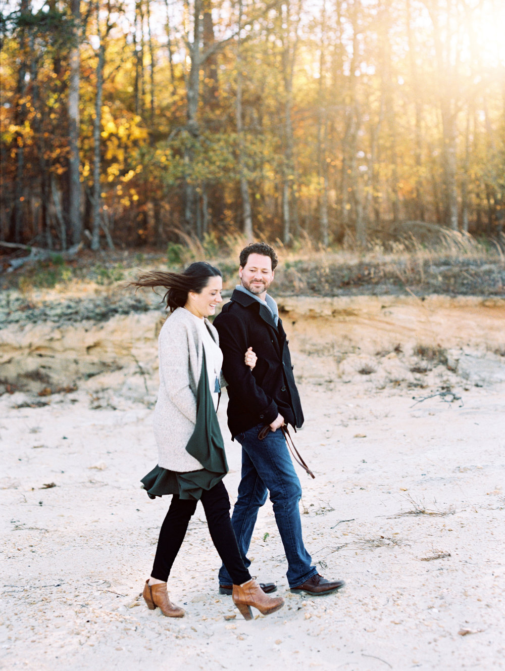Lake Keowee film engagement session photography
