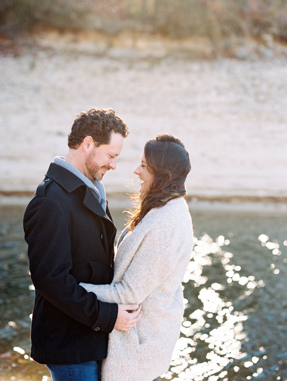 Atlanta wedding photographer engagement lake