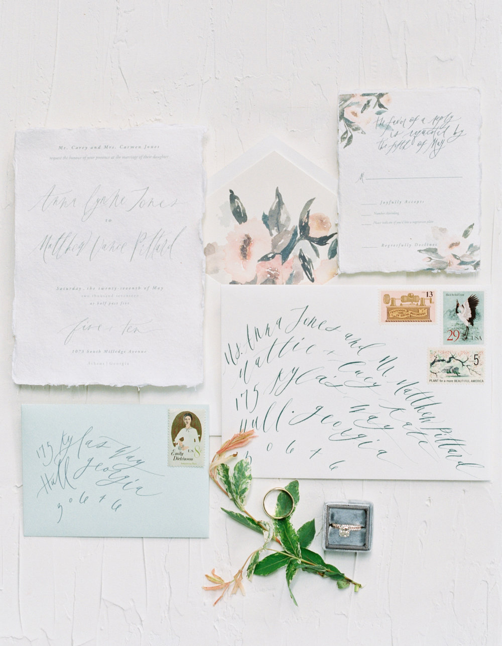 Wedding calligraphy Sarah Ingram
