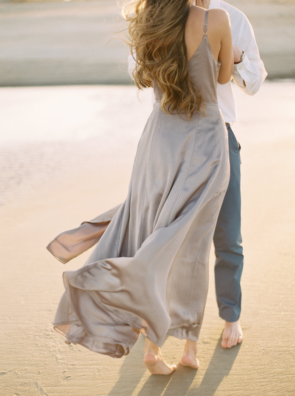 Beach engagement session Charleston Lowcountry