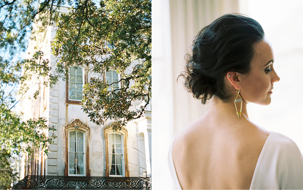 Downtown Savannah wedding elopement photographer