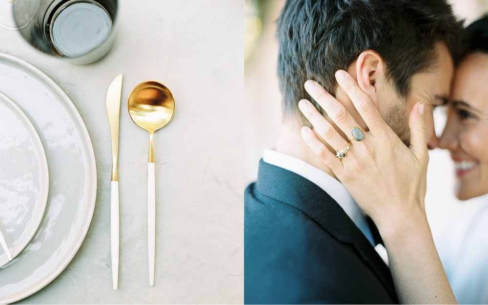 Modern minimal wedding fall