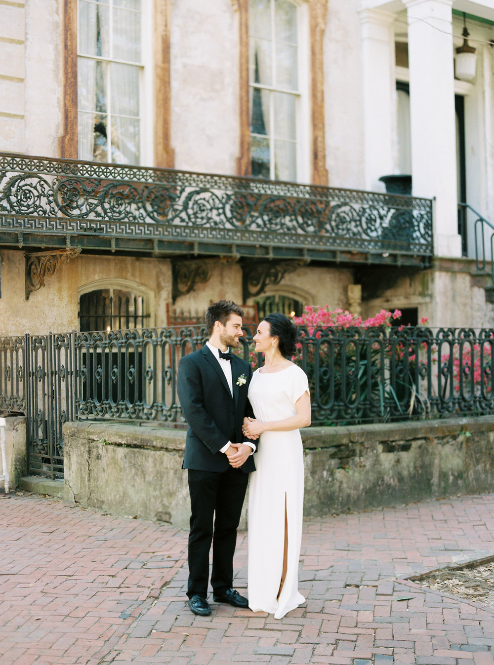 Downtown Savannah historic district wedding