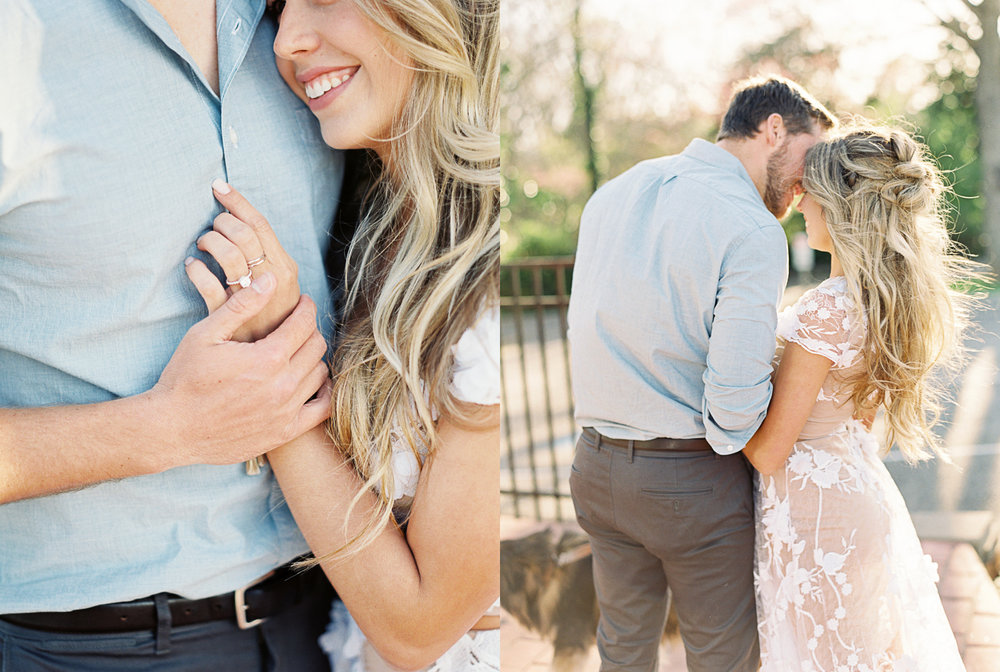 Spring engagement outfit white dress