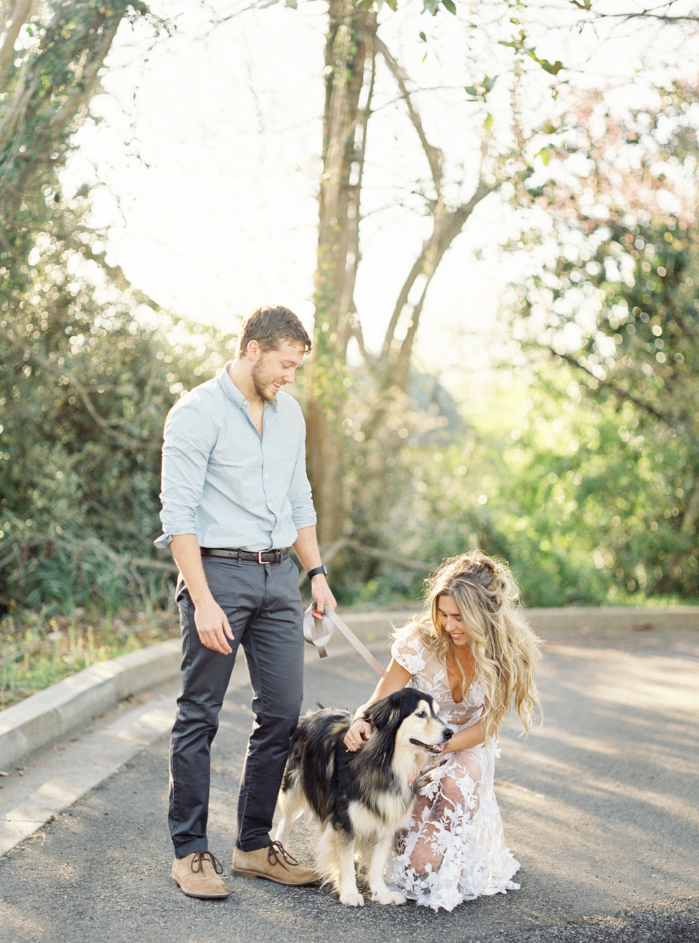 Engagement session dog puppy