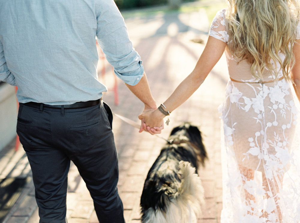 Atlanta engagement session dog puppy