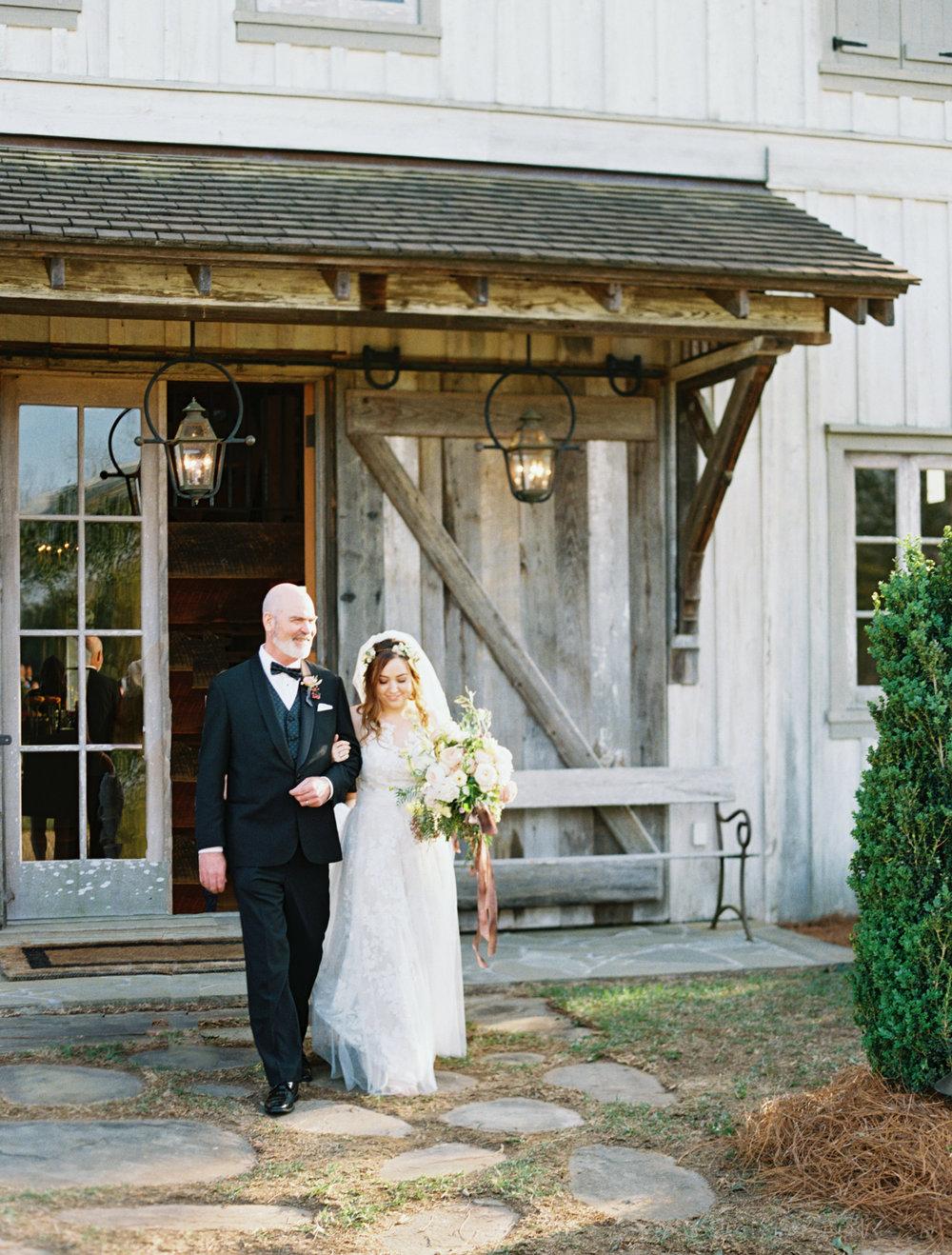 Elegant barn wedding fall