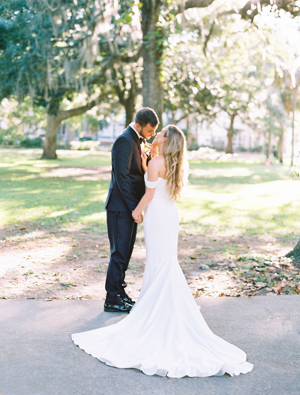 Forsyth Park wedding film photography