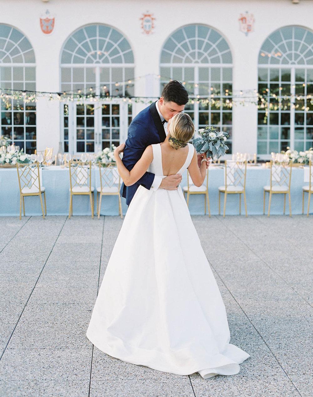 Congressional Country Club wedding blue summer