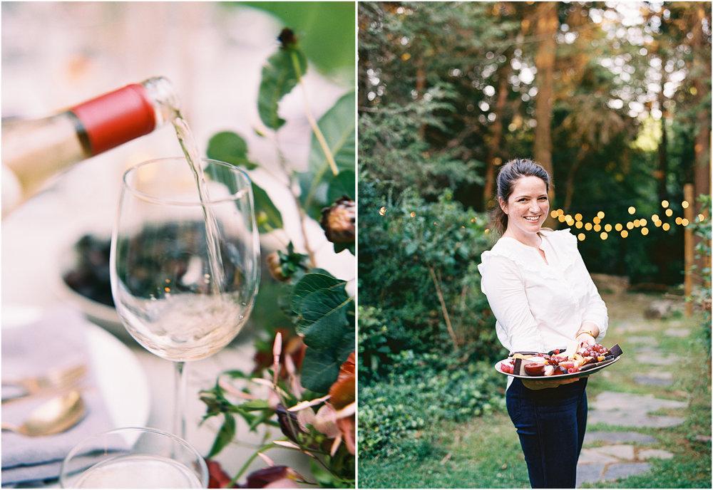 Farm to table wedding dinner
