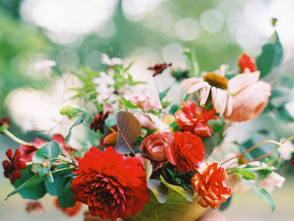 Amy Osaba design red flower arrangement