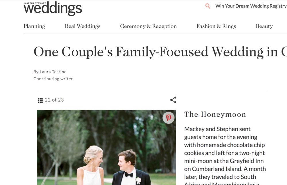 MARTHA STEWART WEDDINGS - FEATURED : A REFINED SAVANNAH WEDDING