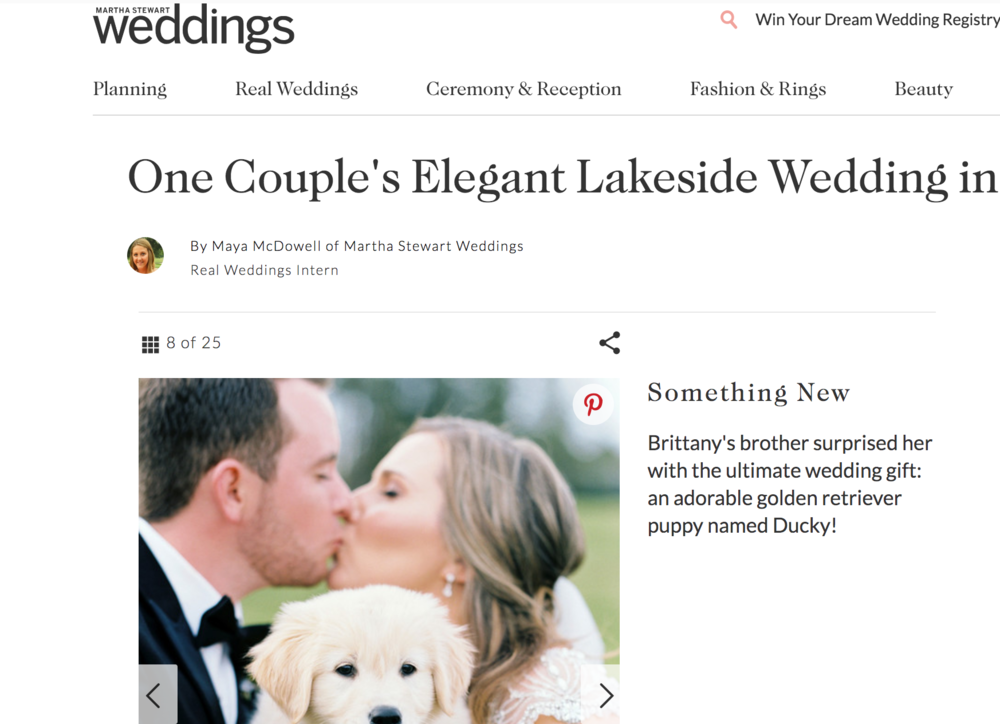 MARTHA STEWART WEDDINGS - FEATURED : LAKESIDE WEDDING SOAKED IN BLUE + BLOOMS