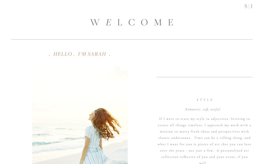MEET SARAH -